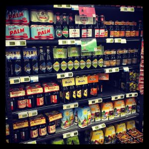 Belgian beers shopping at Carrefour