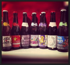 Beer selection from De Dolle Brouwers