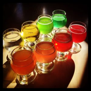 mjlti coloured beer