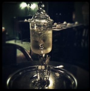Absinthe fountain in Paris
